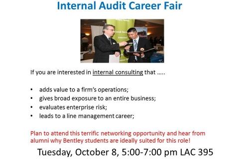 Internal Audit Career Fair 2013