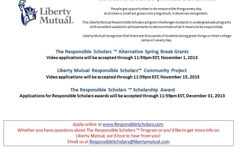 Liberty Mutual – Responsible Scholars – PARTIAL Flyer UPDATED