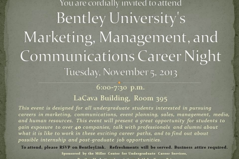 Networking Night Invite for students