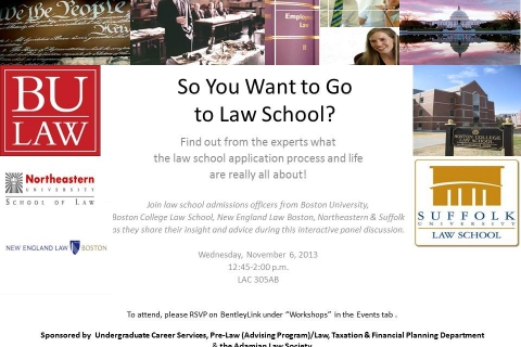 So You Want to Go to Law School flyer 2