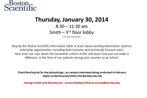 Boston Scientific – Open Event Table – 1-30-14