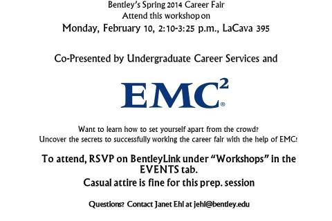 Career Fair Confidential with EMC flyer