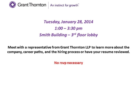 Grant Thornton Open Event-Table 1-28-14