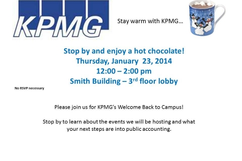 KPMG Open Event – 1-23-14