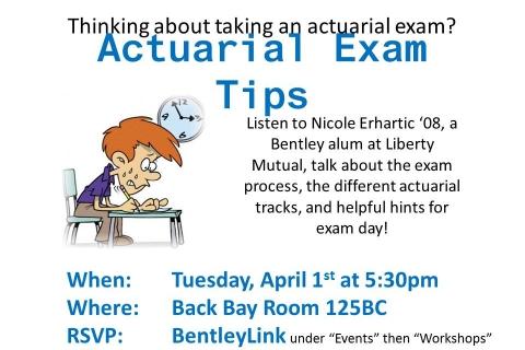 Actuarial Exam Prep Flyer