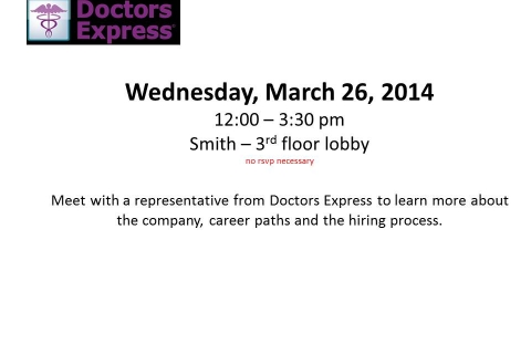 Doctors Express – Open Event Table