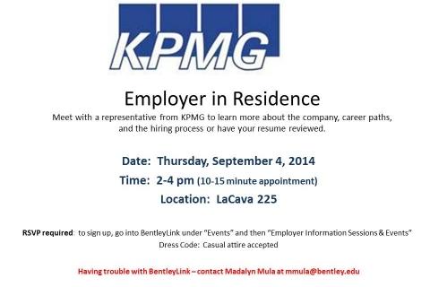 KPMG Employer in Residence