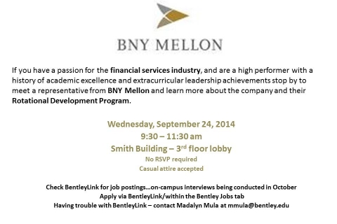 BNY Mellon – Open Event Table