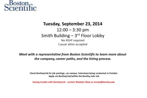 Boston Scientific – Open Event Table