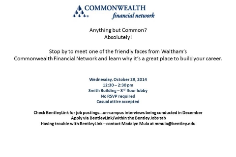 Commonwealth Financial – Open Event