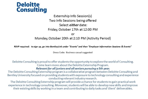 Deloitte Consulting – Externship Info Sessions