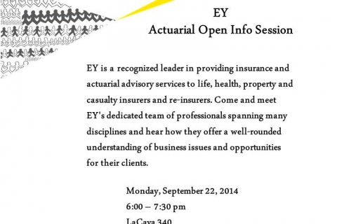 Ernst & Young Actuarial Open Info Session