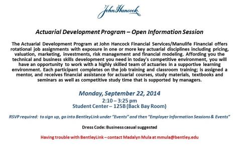John Hancock Actuarial  Development  Program Open Info
