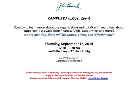 John Hancock – Campus Day – Open Event