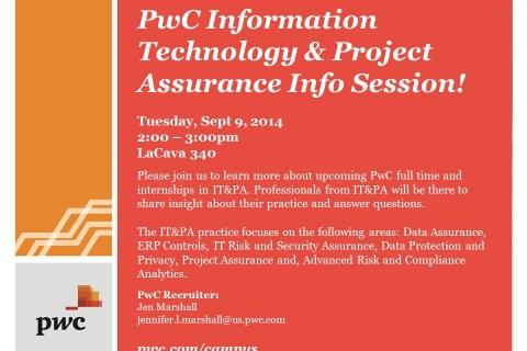PWC – Tech & Proj Assur Info Session