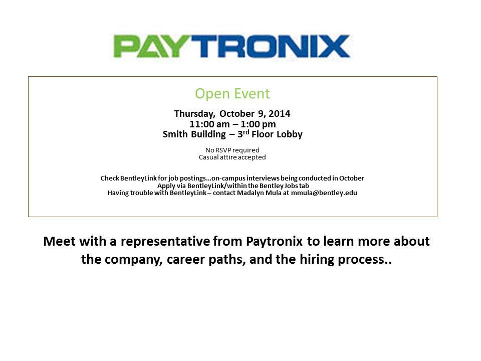 Paytronix - Open Event
