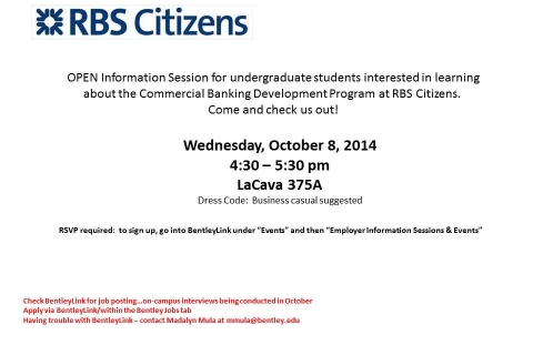 RBS Citizens Open Info Session