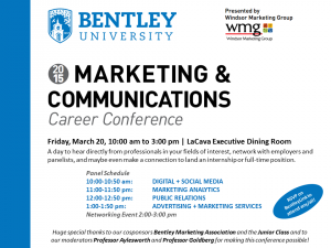 Marketing & Communications Career Conference Flyer
