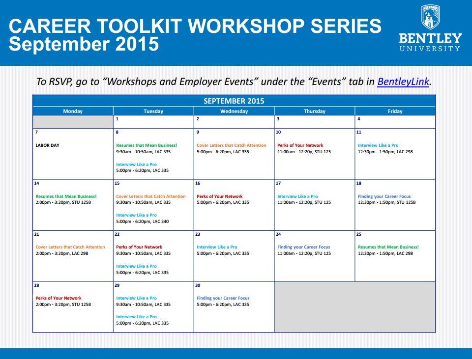 career toolkit workshops