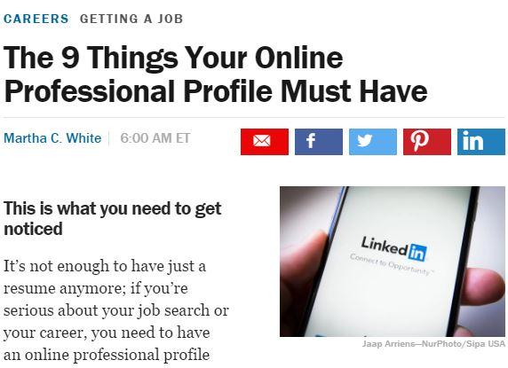 Money LinkedIn article