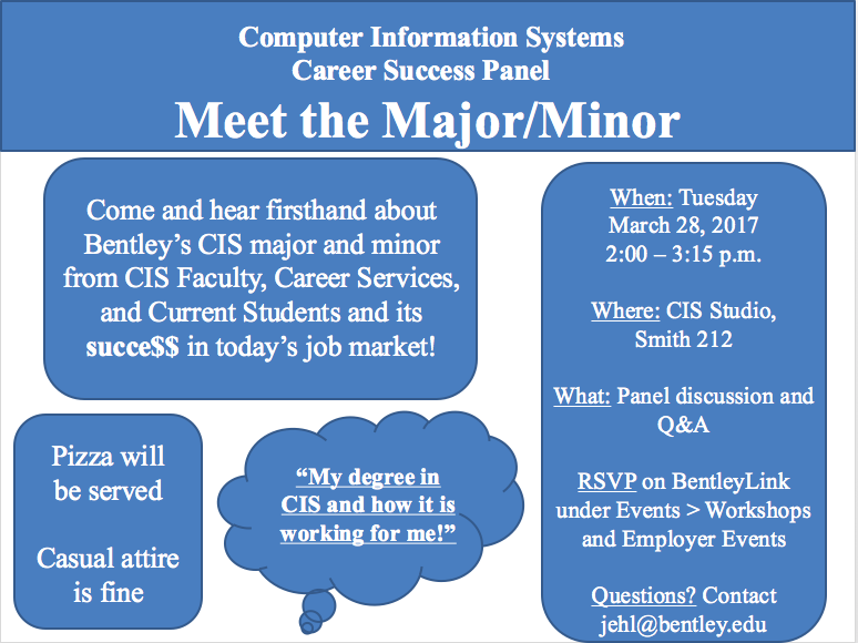 Come and learn about the CIS major and minor! – Pizza too thumbnail image