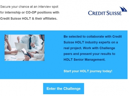 how to get an internship at credit suisse