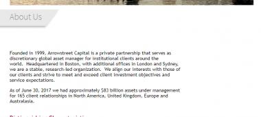 Arrowstreet Capital, Limited Partnership