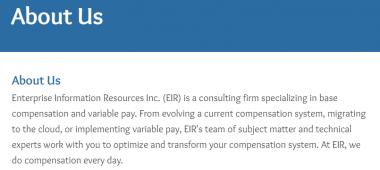 Enterprise Information Resources (EIR)