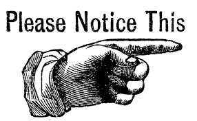 please notice