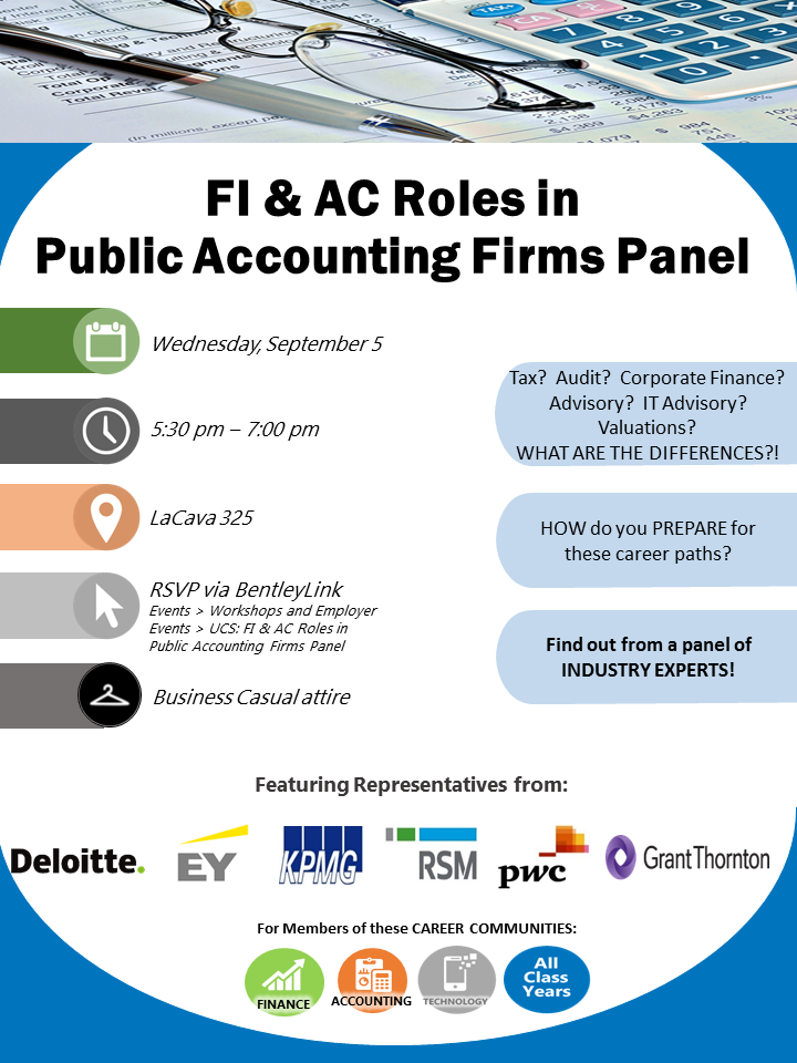 ucs finance and accounting roles in public accounting firms panel bentley careeredge