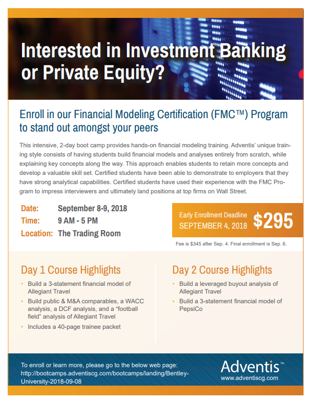 financial modeling certification (fmc™) program – register by 9/4 ...