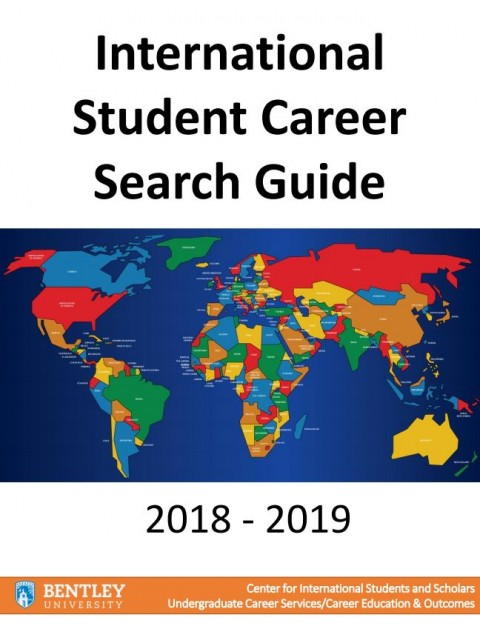 UCEO International Student Career Search Guide 2018-2019