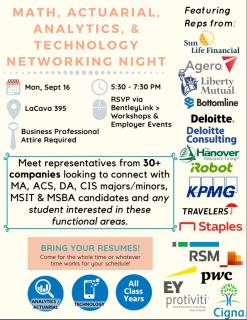 MAAT Networking Night Flyer