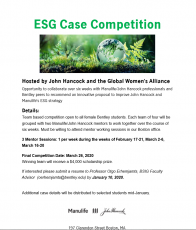 Manulife/John Hancock and Global Women's Alliance Case Competition