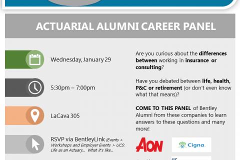 Actuarial Alumni Panel_Spring 2020_Flyer