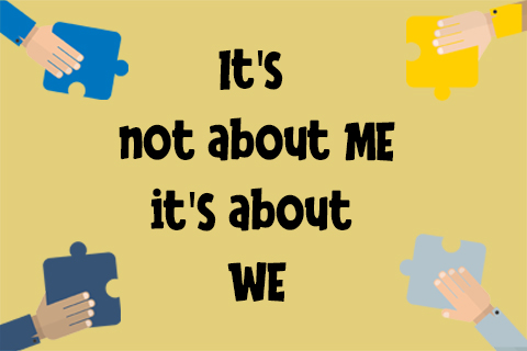 title for we me infographic