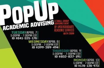 POP UP ACADEMIC ADVISING
