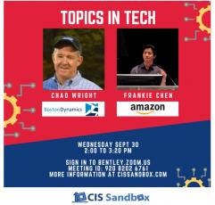 CIS Sandbox Speaker Series: Boston Dynamics and Amazon!