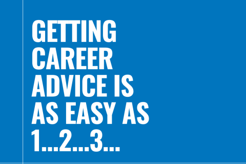 Getting career advice is as easy as 1…2…3…