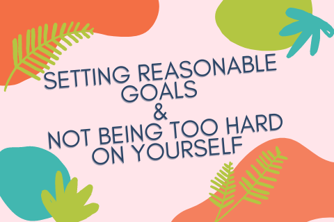 setting reasonable goals & not being too Hard On Yourself