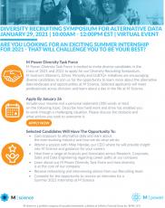 M Science Diversity Symposium - Summer Internship Program 2021- Deadline January 26, 2021!