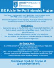 Applications Open for Pulsifer Nonprofit Internship Program!