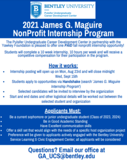 2021 James G. Maguire Promotional Flyer