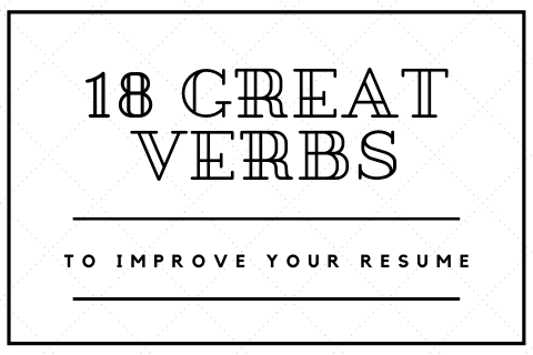 Great Verbs to Use on your Resume Blog Cover