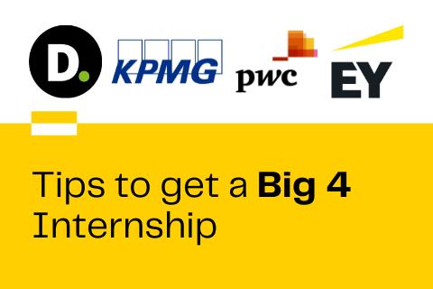 Tips to Get a Big 4 Internship Blog Cover