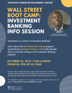 The Wall Street Boot Camp is Here for Bentley Sophomores! thumbnail image