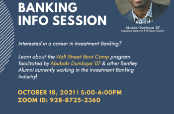 Wall Street Boot Camp: Investment Banking Info Session for Sophomores