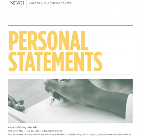 How to Write a Personal Statement
