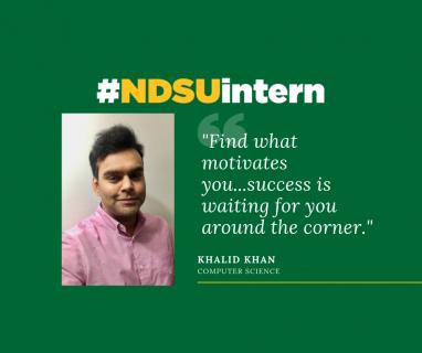 Khalid Khan #NDSUintern Spotlight