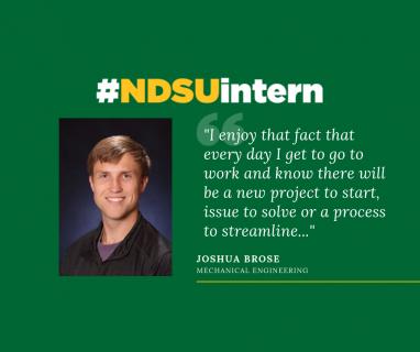 Joshua Brose #NDSUintern Spotlight